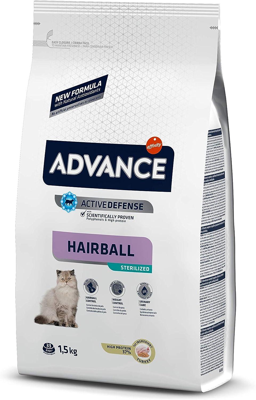 ADVANCE Hairball Pienso para Gatos Esterilizados - 1,5Kg