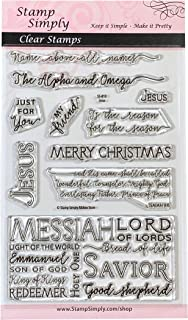 Stamp Simply Clear Stamps Jesus Christmas Religious 4x6 Inch Sheet - 10 Pieces