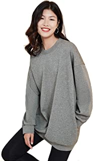 Oversize Boyfriend Crew Neck Sweater with Pockets