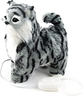 Toysery Electronic Robot Cat Toy   Grey in Color   Function - Walking and Wagging Tail   Premium Material   Adorable Cat   Ultimate Fun for Kids   Light in Weight   Best for Gifting Purpose