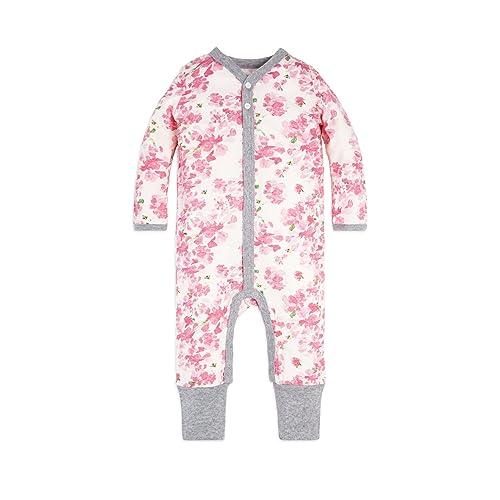 e68e7cea7379 Burt s Bees Baby Baby Girls  Romper Jumpsuit