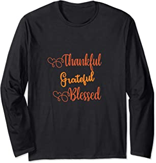 Cute Basic Grateful Thankful Blessed Long Sleeve T-Shirt