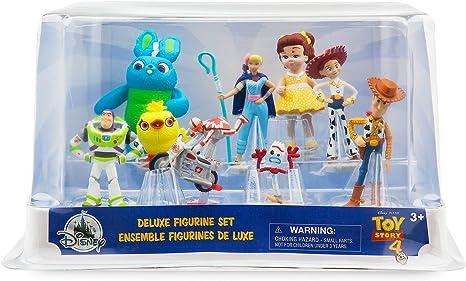 Toy Story 4 9 Set Figure nouveau dans la boîte. The Disney Store Deluxe Figurine Set