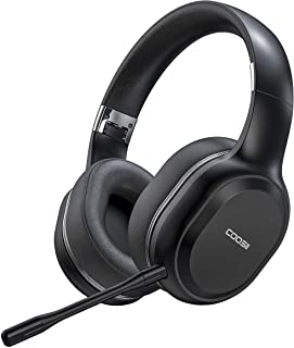 $59 » COOSII Bluetooth Headphones Wireless with Noise Cancelling Dual Microphone for Home Office Online Class, Over Ear Soft Ear...
