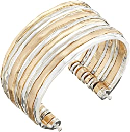 Two-Tone Wide Cuff Bracelet