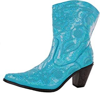 Helens Heart Women's Sparkle Sequin Bling Short Western Cowgirl Boots Assorted Colors