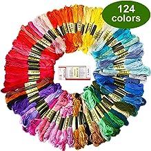 Zoutog - Pulsera de la amistad con hilo de bordar de color