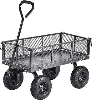 Muscle Carts CW3418-SV Steel Utility Garden Wagon