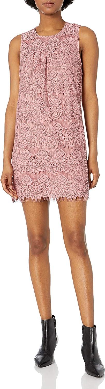 Speechless Women's Allover Lace Shift Dress