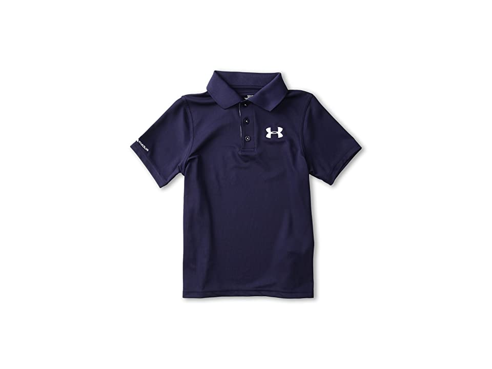 Under Armour Kids UA Matchplay Polo (Big Kids) (Midnight Navy/True Gray Heather/White) Boy's Short Sleeve Pullover