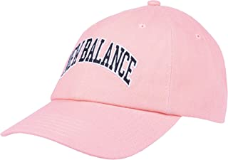 New Balance Men's and Women's Logo 6-Panel Curved Brim Hat, Paradise Pink