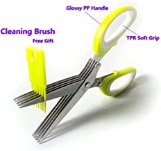 Set of Multipurpose 5 Blade Stainless Steel Herb Scissor Kitchen Scissor with Cleaning Brush as Free Gift Dishwasher Safe