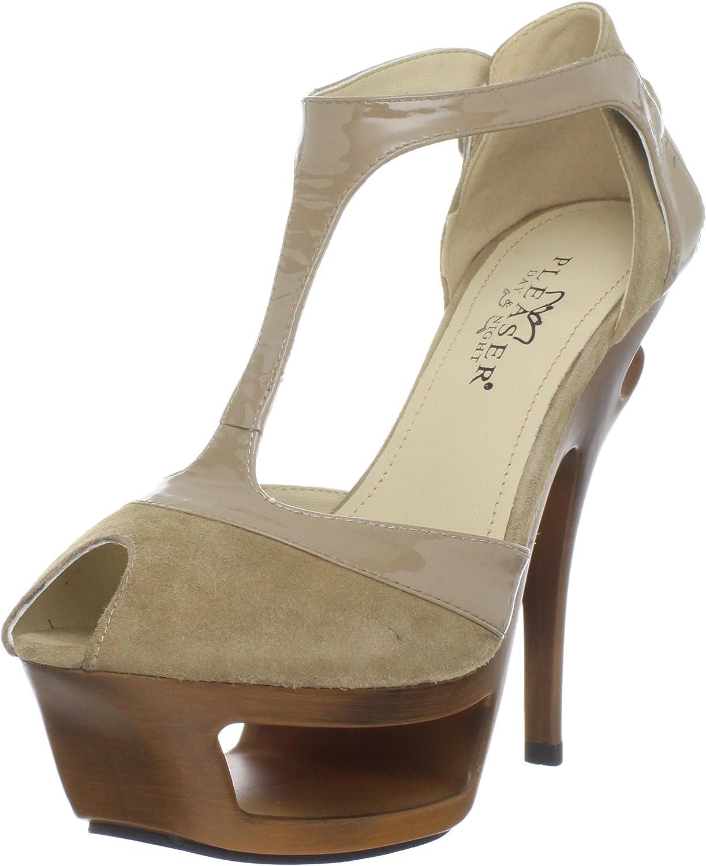 Pleaser Women's Deluxe-682 BHS-PLE T-Strap Sandal