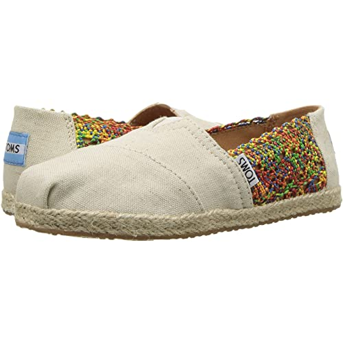 TOMS Kids Girls Alpargata (Little Kid/Big Kid) Multi Crochet/Hemp Rope