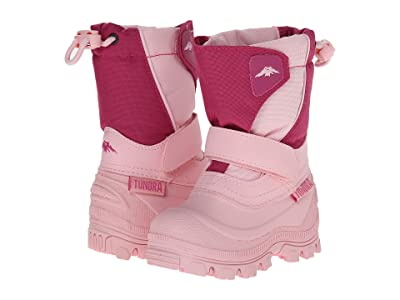 Tundra Boots Kids Quebec Wide (Toddler/Little Kid/Big Kid) (Pink/Fuchsia) Girls Shoes