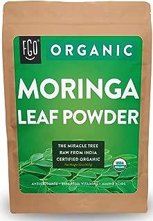 Organic Moringa Oleifera Leaf Powder - Perfect for Smoothies, Drinks, Tea & Recipes - 100% Raw From India - 32oz/907g Resealable Bag - by Feel Good Organics