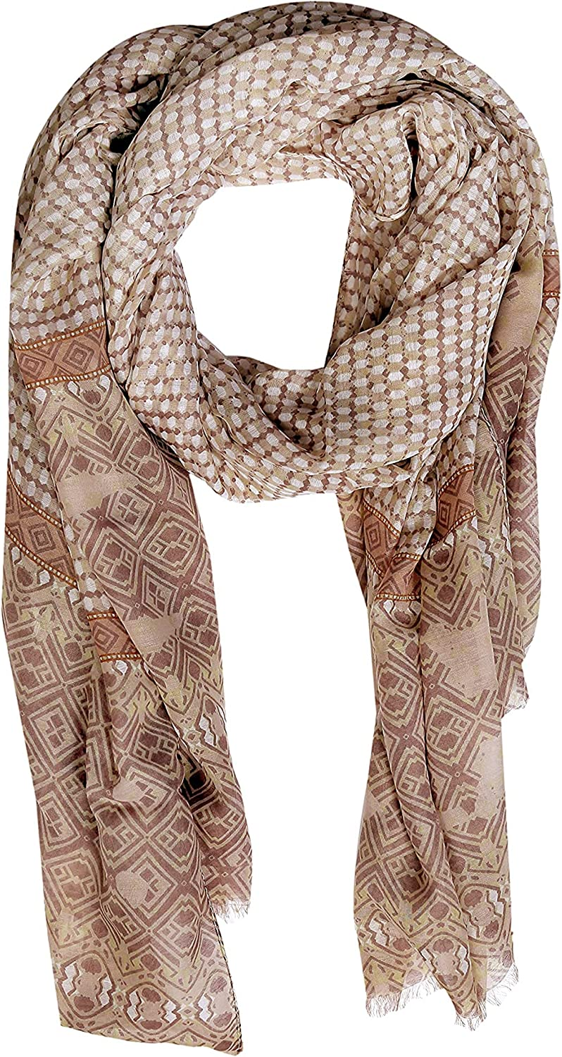 Fairy Exports Lightweight & Soft Printed Scarf, Stole, Shawl, Scarves For Womens, Girls & Ladies for All Season - Multicolor