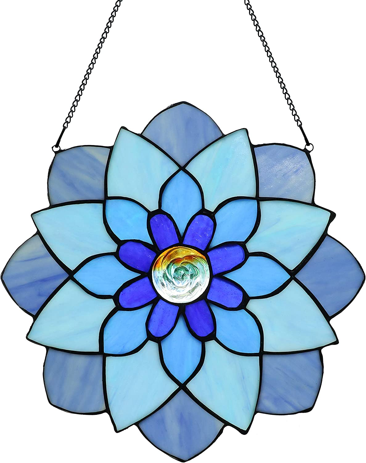 12 Inch In stock Round Stained Glass New Orleans Mall Ornament Tiffany Window Style Panel