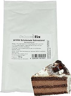 Hobbybäcker Schoko-Sahnestand  Tolle Schokoladen-Sahne für Torten & Kuchen  Reicht für 750g Sahne bzw. 1 Torte, 150g