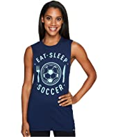adidas - Eat, Sleep Soccer Muscle Tank Top