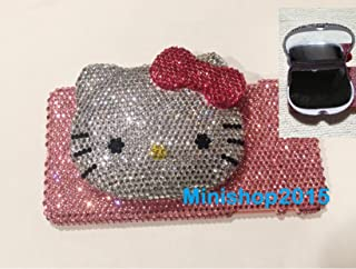 3D Hot pink bow Hello Kitty mirror bling bling iPhone 7 Plus (5.5