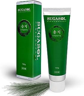 SUGASOL Natural Organic Pine Essence Toothpaste, Korean Beauty, Fluoride SLS Free, Vegan, Sensitive Teeth, Bad Breath Fresh, Dry Mouth, Gum Disease, Gingivitis Treatment, Cavity Repair, 4.6oz (130g)