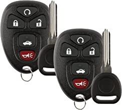 Discount Keyless Replacement Key Fob Car Remote and Uncut Transponder Key Compatible with KOBGT04A, 22733524, ID 46 CIRCLE +, B111-PT (2 Pack)