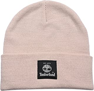 Timberland mens Short Watch Cap With Woven Label Beanie Hat