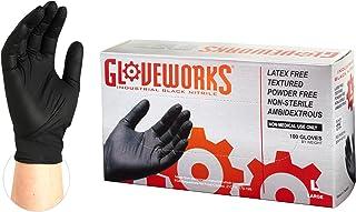 AMMEX GWBL46102E0BX Guantes de nitrilo desechables grandes,