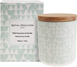 Royal Doulton Natural Scented Soy Candle. Wild Geranium 9.8 oz