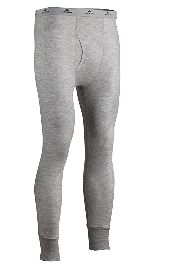 X-Large X-Large Heather Grey Indera 975LSXLGR Mens Two-Layer Performance Thermal Underwear Top with Silvadur