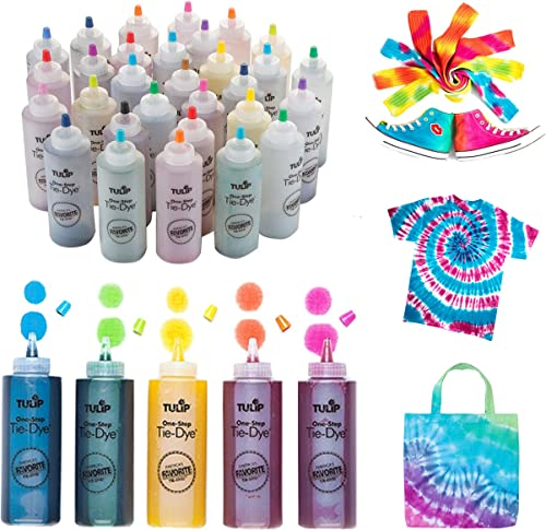 Tulip One-Step Tie-Dye Kit Ultimate Summer Bundle, Classroom Pack, Party Supplies Tie Dye, Durable Results-Includes 3...