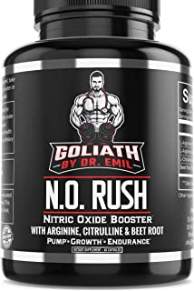 Dr. Emil - Nitric Oxide Supplement with L Arginine AKG, L Citrulline Malate and Beet Root - NO Booster for Muscle Growth, Vascularity and Endurance (120 Capsules)