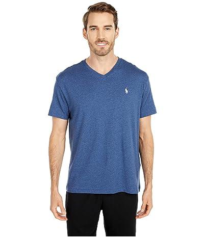 Polo Ralph Lauren Classic Fit V-Neck T-Shirt (Derby Blue Heather) Men