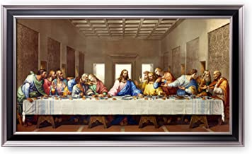 A&T ARTWORK The Last Supper by Leonardo Da Vinci The World Classic Art Reproductions,Giclee Prints Framed WallArt for Home...