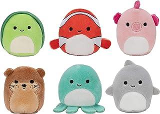 "Squishville by Squishmallow Mystery Mini Plush Sealife Squad, Six 2"" Soft Mini-Squishmallow Sea Animals, Irresistebly Soft..."