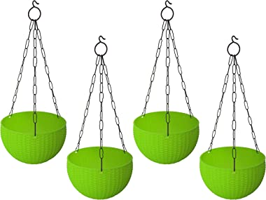 Go4plants Euro Hanging Plastic Pot Color: Green (Set of 4)