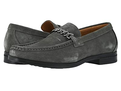 Stacy Adams Norwood Moc Toe Bit Slip-On (Gray Suede) Men
