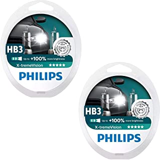 Philips 9005 X-tremeVision Upgrade Headlight Bulb with up to 100% More Vision,  4 Pack