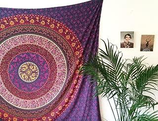 Royal Furnish Purple Tapestry, Plum and Bow Mandala Tapestry, Six Colors Popular Hippie Boho Purple Mandala Tapestry Wall Hanging for Bohemian Bedroom, Living Room and Dorm Room Decor.RMTB277