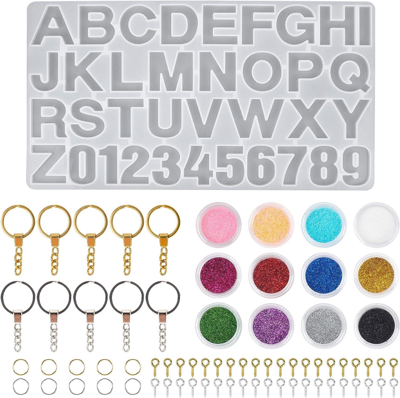 34 St/ück Schmuckformen Silikon-Kits Haarnadelharz-Gie/ßformen Werkzeuge Set mit 3 verschiedenen Haarspangen Silikon-Epoxid-Form f/ür die Herstellung von DIY-Schmuck