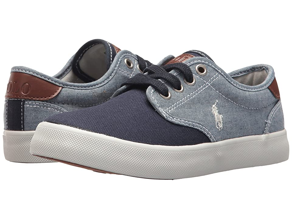 Polo Ralph Lauren Kids Luwes (Little Kid) (Blue Chambray/Navy Canvas/White Pony Player) Boy