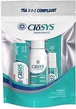 CloSYS Oral Care Trial Size Kit, Mouthwash, Toothpaste, Breath Spray, Travel Size, TSA Compliant
