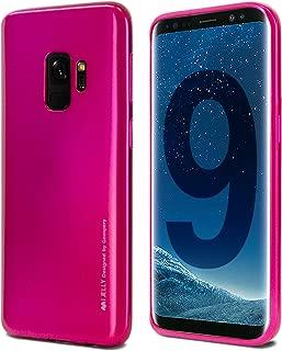 Goospery i-Jelly for Samsung Galaxy S9 Case (2018) Slim Thin Rubber Case (Metallic HotPink) S9-IJEL-HPNK