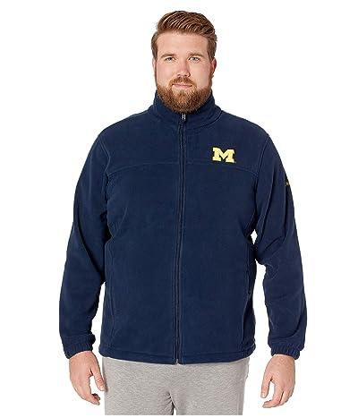 Columbia College Big Tall Michigan Wolverines CLG Flankertm III Fleece Jacket (Collegiate Navy) Men