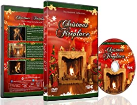 Christmas DVD - Christmas Fireplace with Long Wood Fire with Burning Sounds and Christmas Music