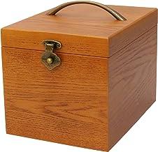 クレエ 木製 メイクボックス 鏡付き化粧品箱 ブラウン 90900044 18×24×17.5