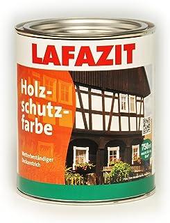 Holzschutzfarbe Lafazit Weiß, Schwarz, Grün, Rotbraun, Dunkelbraun, Beige, Schwedenrot Holzschutzmittel Holzfarbe Außenfarbe 2,5 L, Rotbraun