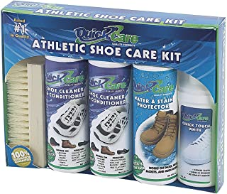 Quick Care Sneaker Cleaner shoe care kit 4 bottles 1 brush