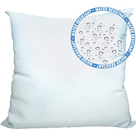 Foamily Premium Outdoor Water And Mold Resistant Hypoallergenic Stuffer Pillow Throw Inserts Sham Square Form 12 L X 12 W Standard White Garden Outdoor